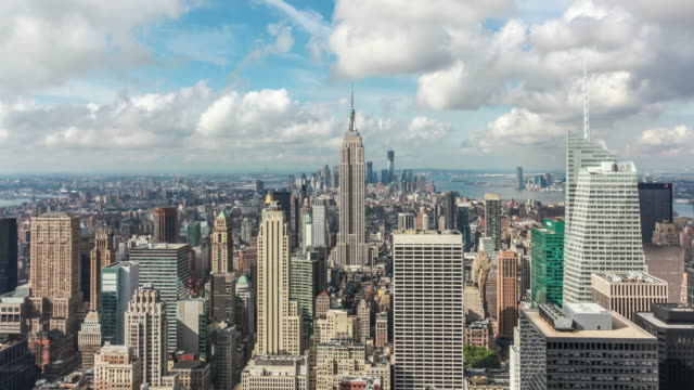 Manhattan Skyline with Empire State Building Timelapse video