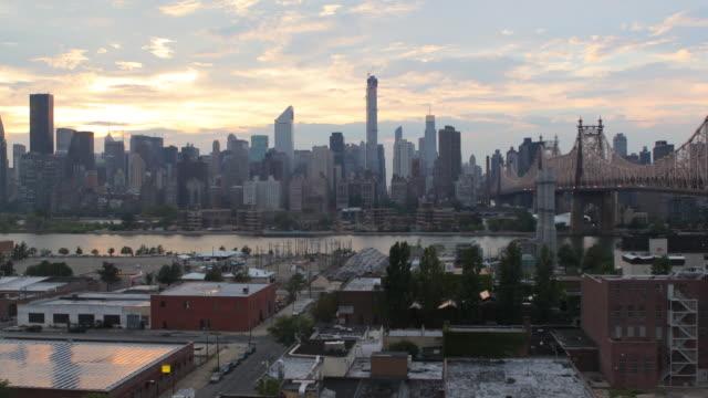 Manhattan sunset video