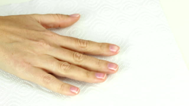 Manicure in process - painting gel polish of pink color video