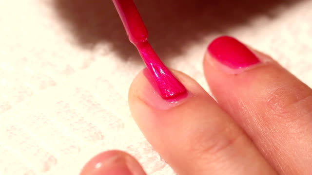 manicure makeup color painting their nails video