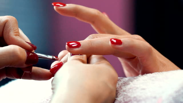 Manicure procedure. video