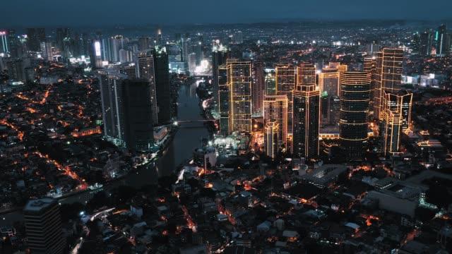 skyline di manila makati, timelapse - filippino video stock e b–roll