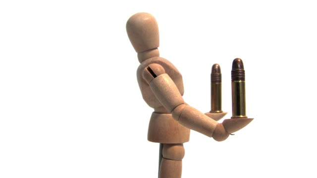 Mannequin Holding Bullets (HD Loop) video