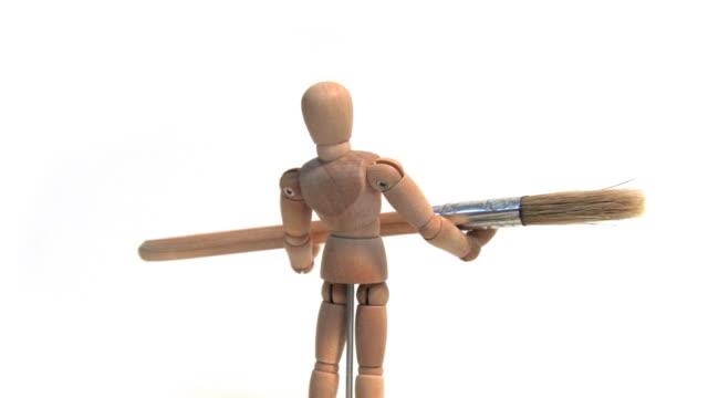 Mannequin Holding Paint Brush video