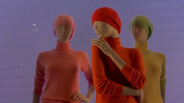 Mannequin Noise Screen - video