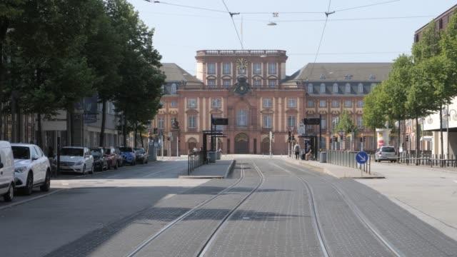 Mannheim Baroque Palace Entrance- distance shot video