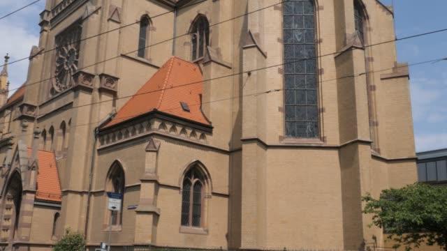 mannheim church of the holy spirit - barocco video stock e b–roll