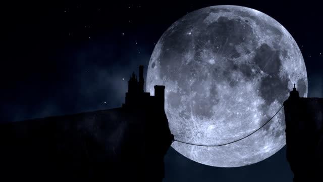 Manoir pleine lune en boucle video