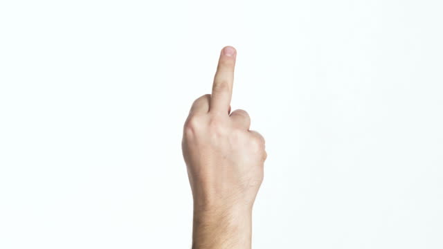 man's palm showing middle finger isolated middle finger on isolated background middle finger stock videos & royalty-free footage