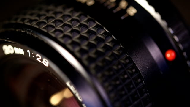 manual photo lens. Macro shot video