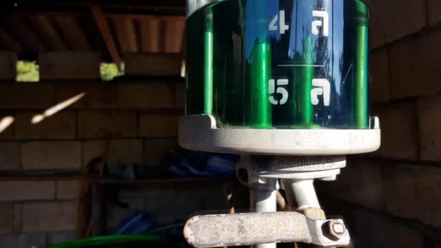 manually pumped petrol (gas) pump in Thailand