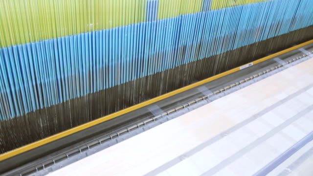 Manufacture Industrial Textiles Production Line with Automatic Weavers in a Factory video