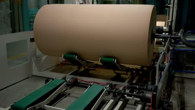 manufacture of toilet paper and napkins - мембрана клетки стоковые видео и кадры b-roll