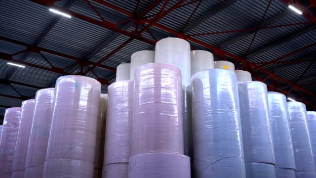 производство туалетной бумаги и салфеток - мембрана клетки стоковые видео и кадры b-roll