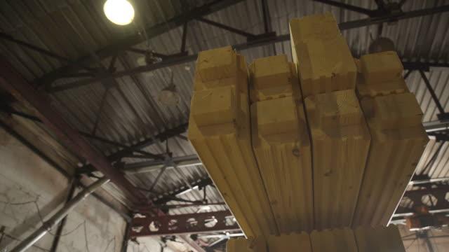 Manufacture of wood glued beams. LVL Laminated Veneer Lumbe video