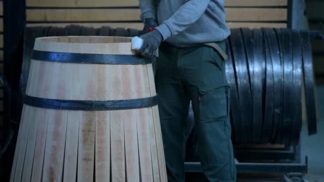 Manufacturing wine barrels-Bordeaux Vineyard video