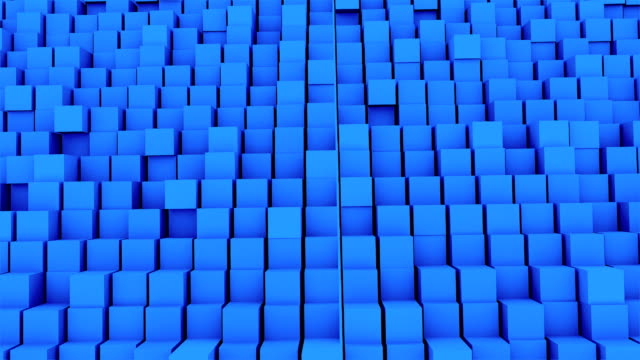 Many abstract cubes, optical Illusion, modern computer generated 3D rendering backdrop video
