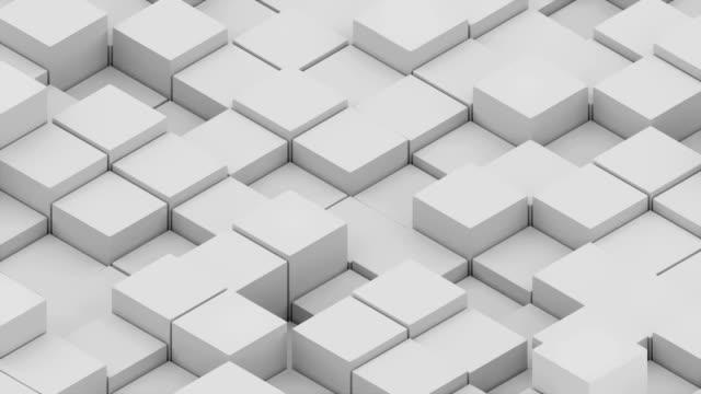 vidéos et rushes de grand nombre de cubes isométrique abstraite - cube