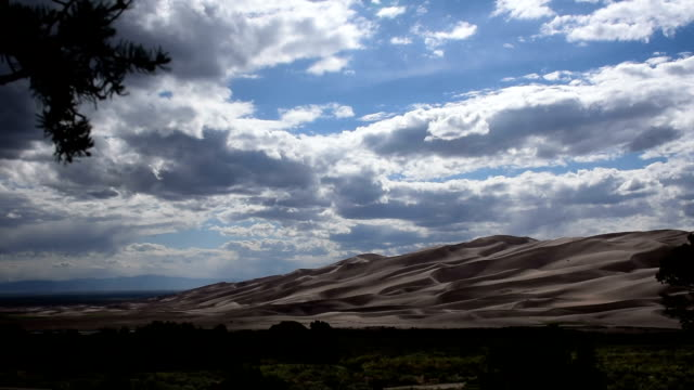 Many Angles of Great Sand Dunes National Park with Fast Moving Clouds on an Amazing Summer Day