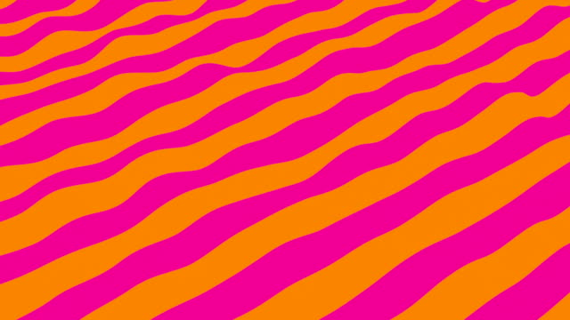 Many bright waving lines as cloth, abstract computer generated backdrop, 3D rendering video