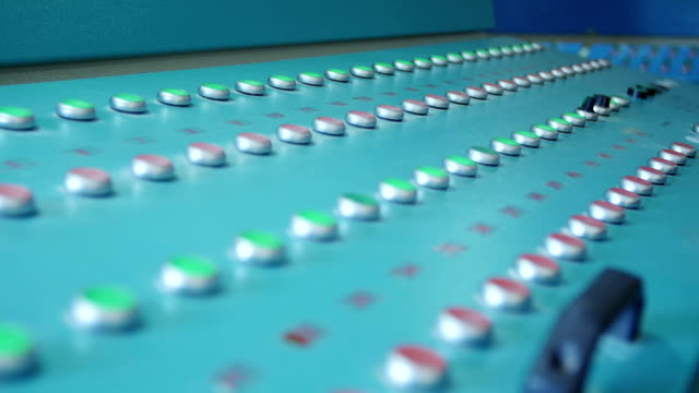 Many buttons and switches - control panel in a machine video
