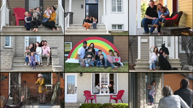 many family portrait at home montage - społeczność filmów i materiałów b-roll
