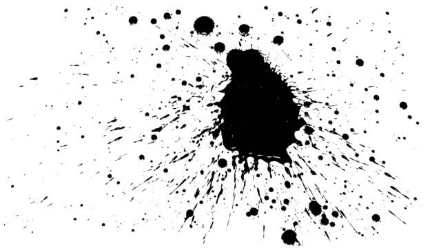 many ink drops on dry paper 09 - ink splatter stock videos and b-roll footage