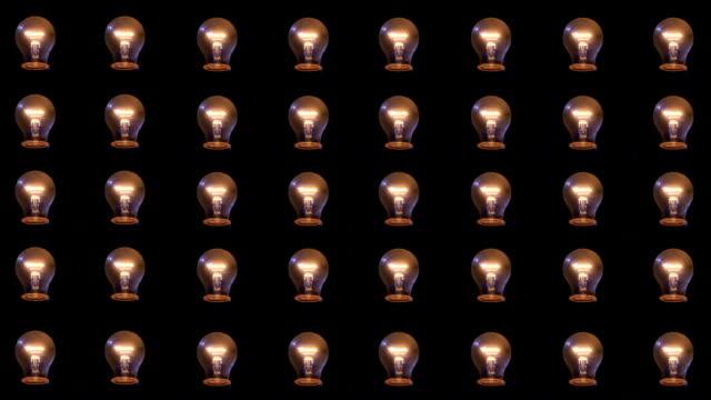 многие свет лампы - илистая пойма стоковые видео и кадры b-roll