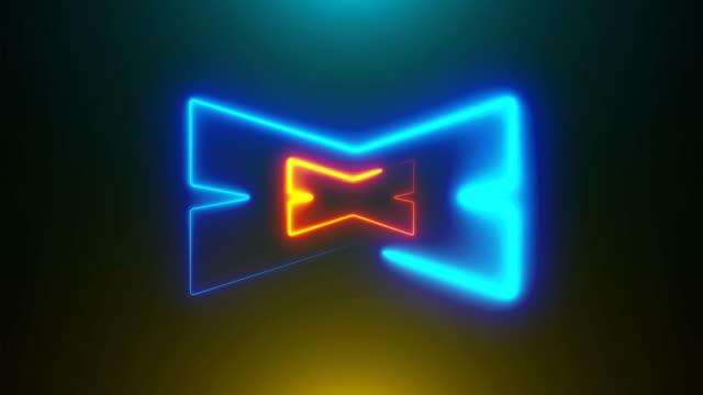 stockvideo's en b-roll-footage met vele neon x shapes in ruimte, abstracte computer gegenereerde achtergrond, 3d-rendering - lood