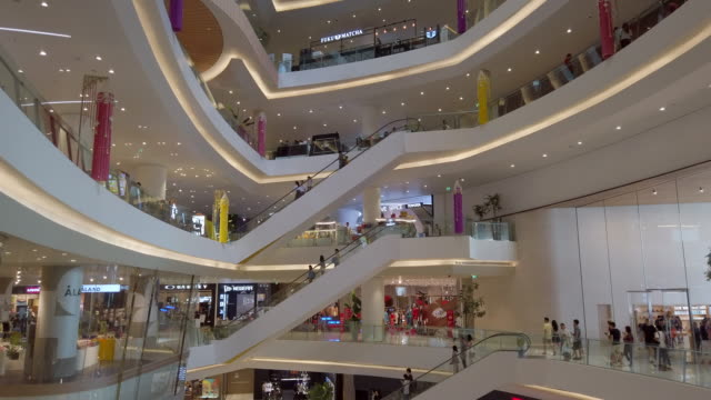 Many people walking and shopping in shopping mall Many people walking and shopping in shopping mall shopping mall stock videos & royalty-free footage