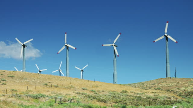 Many Small Wind Turbines Spinning video