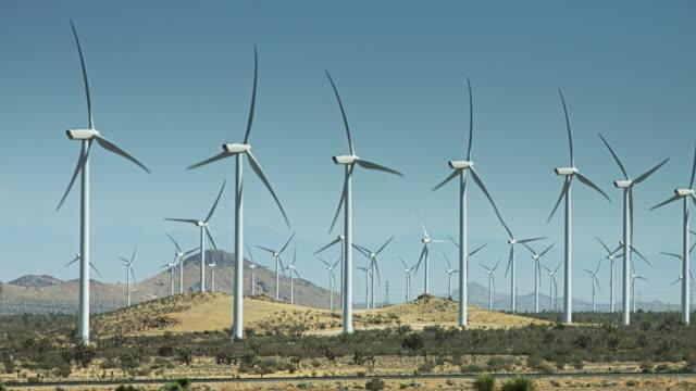Many Wind Turbines at Desert Wind Farm video