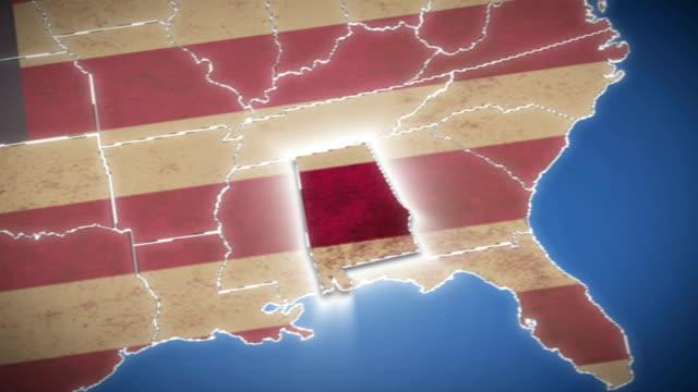 vídeos de stock, filmes e b-roll de estados unidos mapa, de alabama, todos os membros disponíveis - cartografia