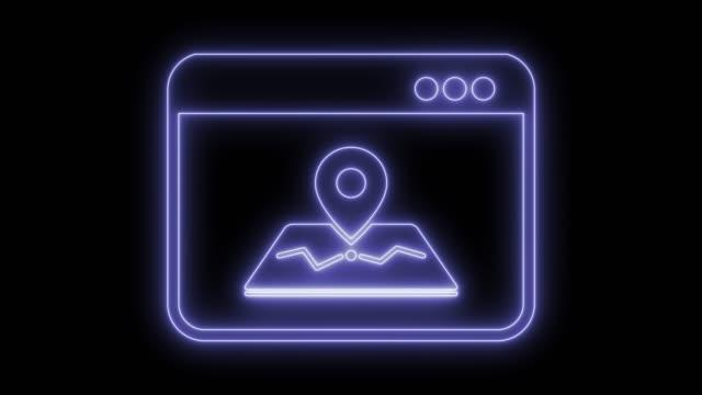 vidéos et rushes de symbole de l'application cartographique - épingle