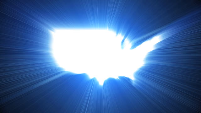 usa map bright - usa map stock videos and b-roll footage