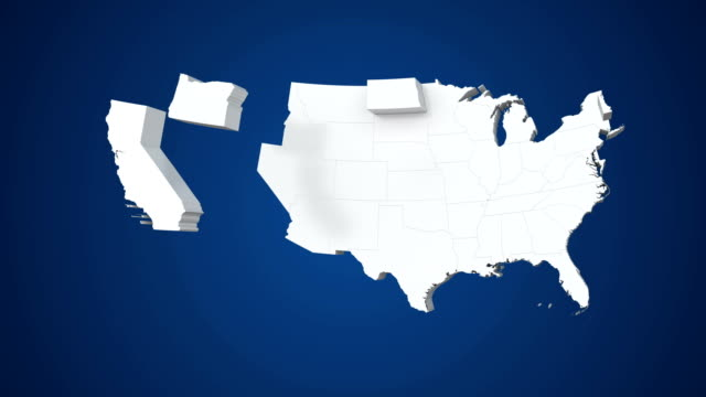 usa map by states 4k - usa map stock videos and b-roll footage