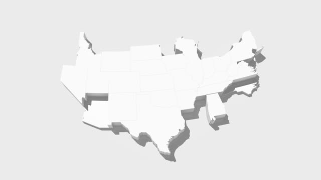 USA map by states 4K video