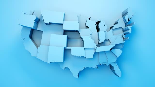 usa karta av stater - amerika bildbanksvideor och videomaterial från bakom kulisserna