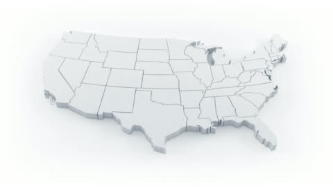 USA map by states. White version.  cartography stock videos & royalty-free footage