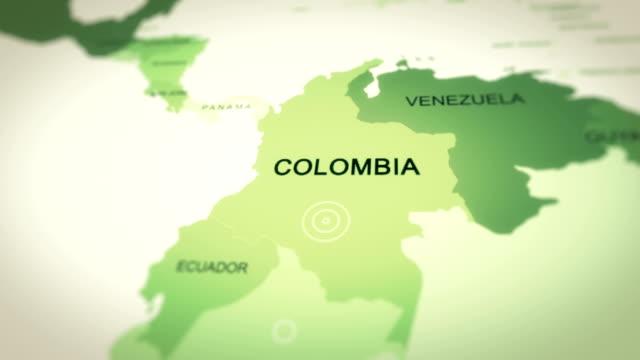 harita kolombiya - kolombiya stok videoları ve detay görüntü çekimi
