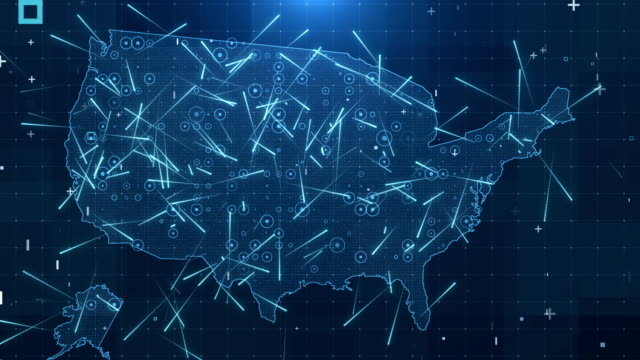 USA Map Connections full details Background 4K