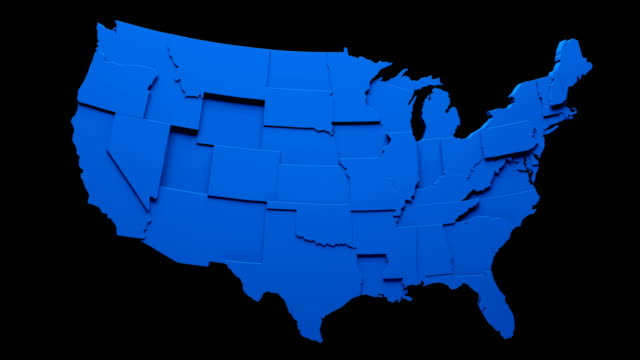 usa map - moving states loop - politica e governo video stock e b–roll