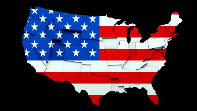 米国マップ - 移動状態ループ - 民主主義点の映像素材/bロール