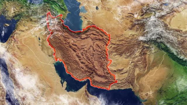 匹配的浮雕和山伊朗和邊界,物理地圖中東、 阿拉伯半島地圖電子地圖 - 伊朗 個影片檔及 b 捲影像
