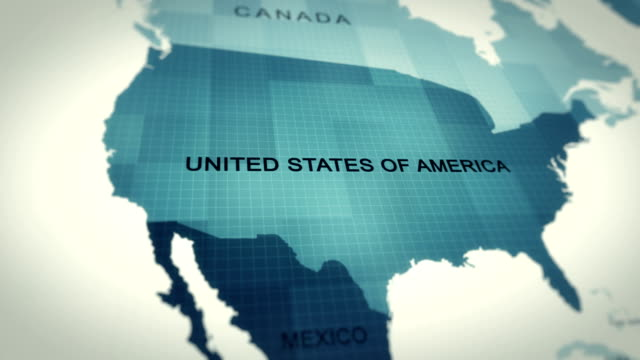 4K Map of USA 4K Map of USA north america stock videos & royalty-free footage