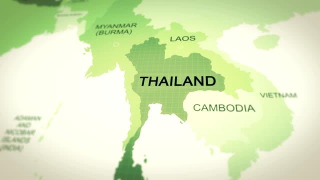 mappa thailandia - tailandia video stock e b–roll