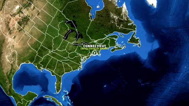 CONNECTICUT Map USA - Earth Zoom video