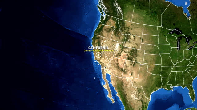 CALIFORNIA Map USA - Earth Zoom video