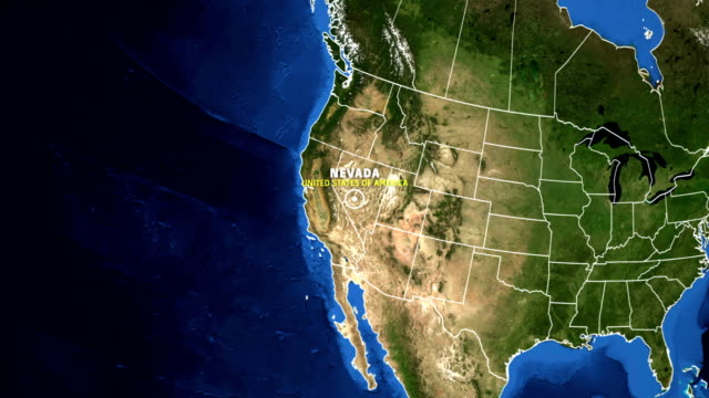 NEVADA Map USA - Earth Zoom video