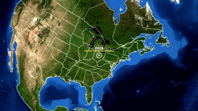 OHIO Map USA - Earth Zoom
